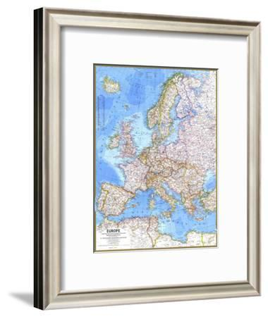 1977 Europe Map-National Geographic Maps-Framed Art Print