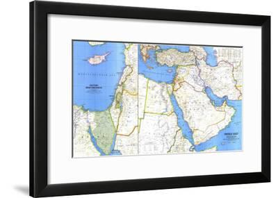 1978 Middle East Map-National Geographic Maps-Framed Art Print