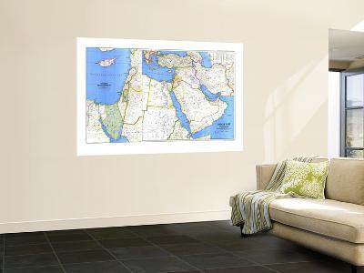 1978 Middle East Map-National Geographic Maps-Wall Mural