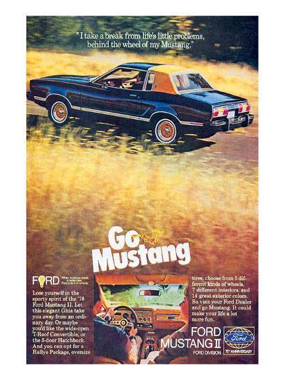 1978 Mustang - I Take a Break--Art Print