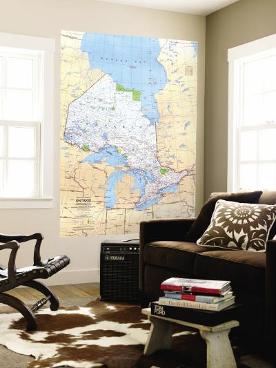 1978 Ontario Canada Map-National Geographic Maps-Wall Mural