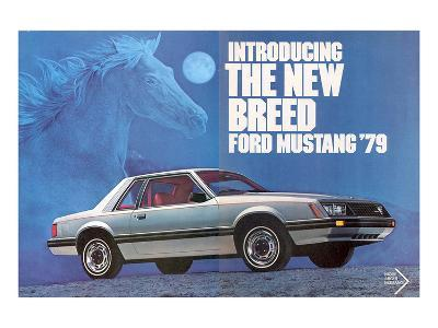 1979 Mustang - the New Breed--Art Print