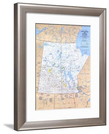 1979 Saskatchewan and Manitoba Canada Map-National Geographic Maps-Framed Art Print