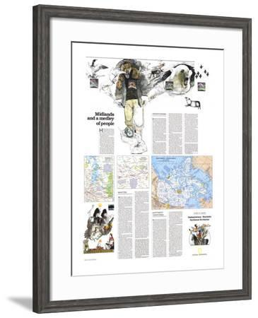 1979 Saskatchewan and Manitoba Map-National Geographic Maps-Framed Art Print