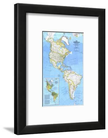 1979 The Americas Map-National Geographic Maps-Framed Art Print