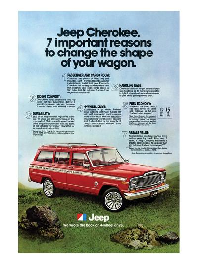 1980 Jeep Cherokee - Reasons--Art Print