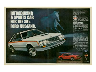 1980 Mustang '80S Sports Car--Art Print