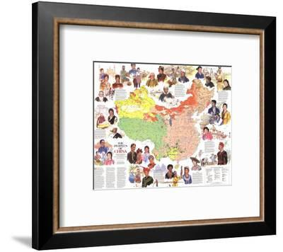 1980 Peoples of China Map-National Geographic Maps-Framed Art Print