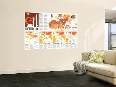 1980 Two Centuries of Conflict in the Middle East Map-National Geographic Maps-Wall Mural