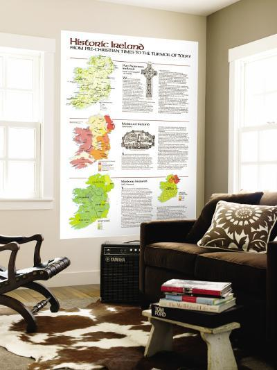 1981 Historic Ireland Theme-National Geographic Maps-Wall Mural