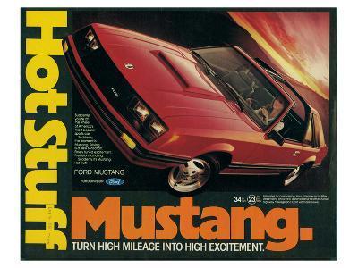 1981 Mustang - Hot Stuff--Art Print