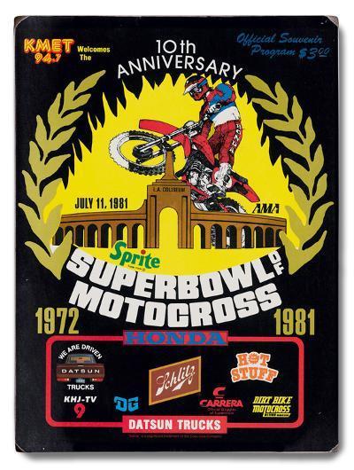 1981 Super Bowl of Motocross--Wood Sign