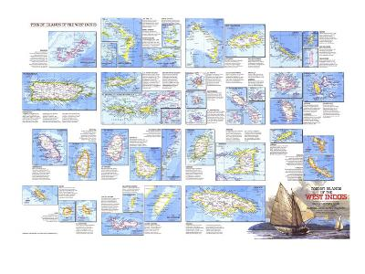 1981 Tourist Islands of the West Indies Map-National Geographic Maps-Art Print