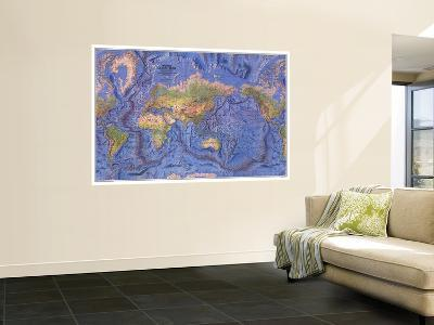 1981 World Ocean Floor Map-National Geographic Maps-Wall Mural