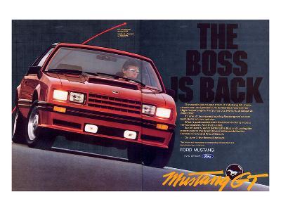 1982 Mustang GT - Boss is Back--Art Print
