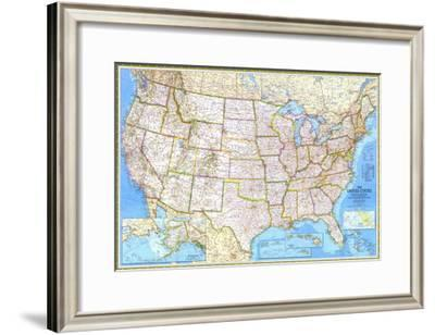 1982 United States-National Geographic Maps-Framed Art Print