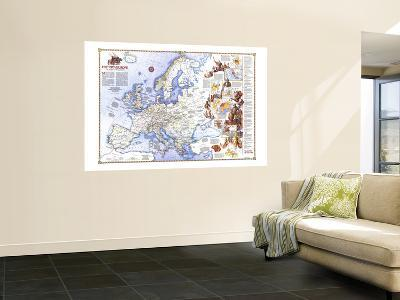 1983 History of Europe, the Major Turning Points Map-National Geographic Maps-Wall Mural