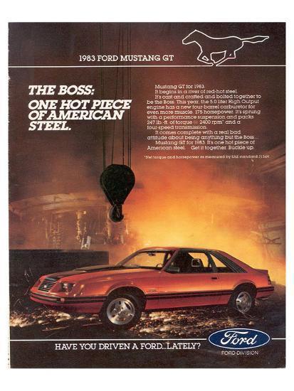 1983 Mustang American Steel--Art Print