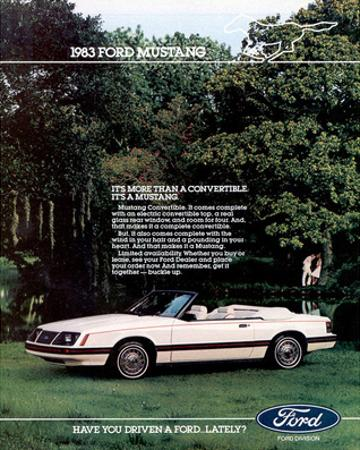 1983 Mustang More Convertible
