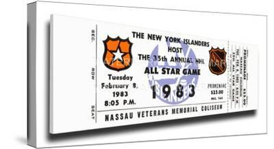 1983 NHL All-Star Game Mega Ticket, Islanders Host - MVP Gretzky