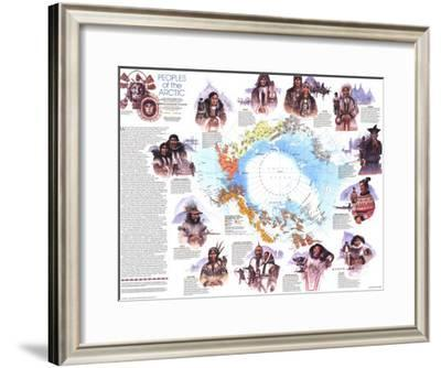 1983 Peoples of the Arctic Map-National Geographic Maps-Framed Art Print
