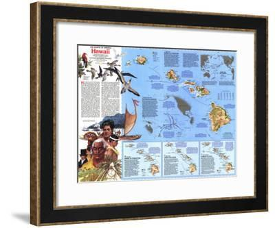 1983 The Making of America, Hawaii Theme-National Geographic Maps-Framed Art Print