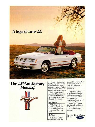 1984 Ford Mustang GT 20Th--Art Print