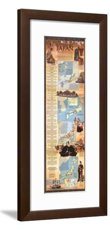 1984 Historical Japan Map-National Geographic Maps-Framed Art Print