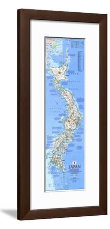 1984 Japan Map-National Geographic Maps-Framed Art Print
