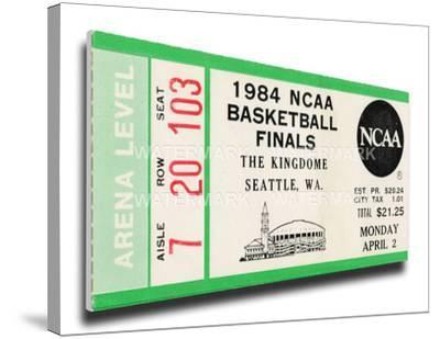 1984 NCAA Basketball Finals Mega Ticket - Georgetown Hoyas