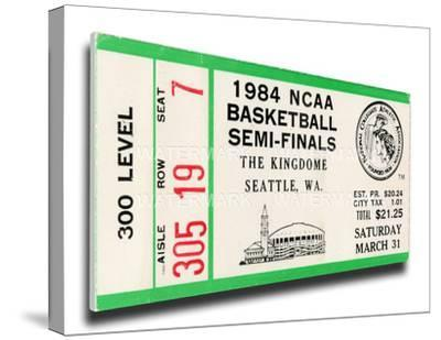 1984 NCAA Basketball Semi-Finals Mega Ticket - Georgetown Hoyas