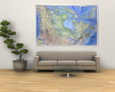 1985 Canada Map-National Geographic Maps-Wall Mural