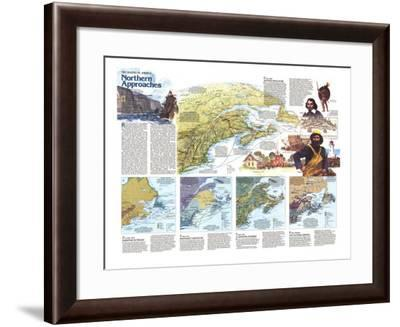 1985 The Making of America, Northern Approaches Theme-National Geographic Maps-Framed Art Print