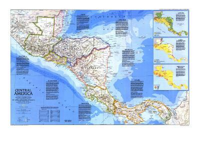 1986 Central America Map-National Geographic Maps-Art Print