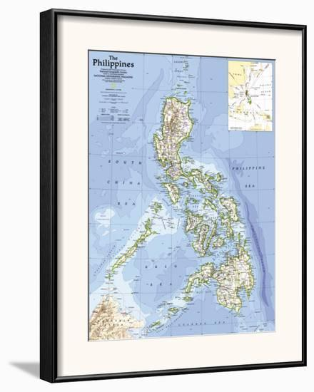 1986 Philippines Map-National Geographic Maps-Framed Art Print