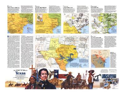 1986 The Making of America, Texas Theme-National Geographic Maps-Art Print