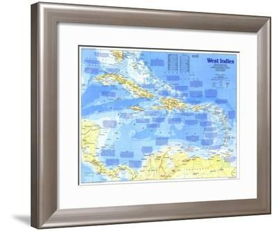 1987 Making of America, West Indies Map-National Geographic Maps-Framed Art Print