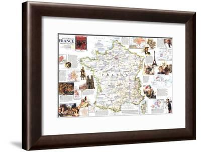 1989 Historical France Map-National Geographic Maps-Framed Art Print