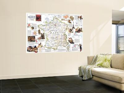 1989 Historical France Map-National Geographic Maps-Wall Mural