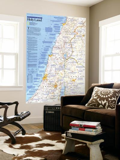 1989 Special Places of the World, Holy Land Map-National Geographic Maps-Giant Art Print