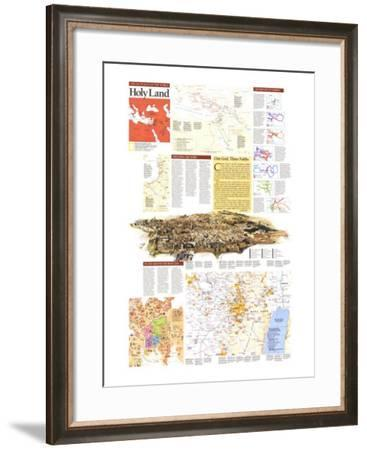 1989 Special Places of the World, Holy Land Theme-National Geographic Maps-Framed Art Print