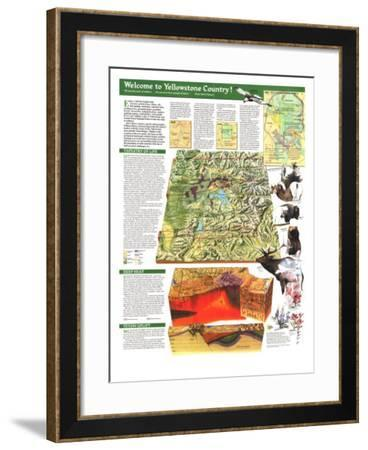 1989 Yellowstone and Grand Teton Map Side 2-National Geographic Maps-Framed Art Print
