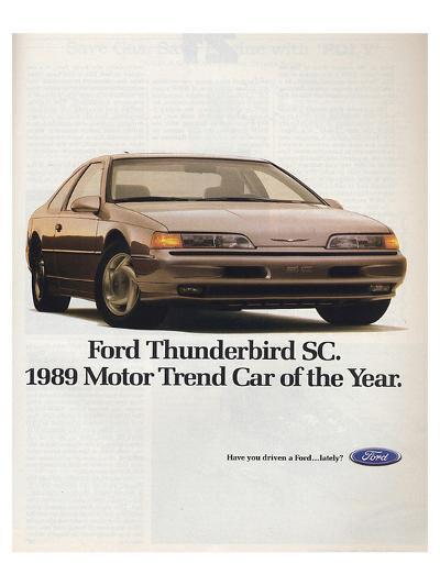 1989Thunderbird Car of the Year--Art Print