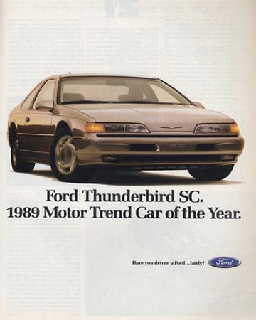 1989Thunderbird Car of the Year