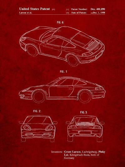 199 Porsche 911 Patent-Cole Borders-Art Print