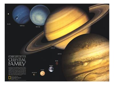 1990 Portraits of Our Celestial Family-National Geographic Maps-Art Print