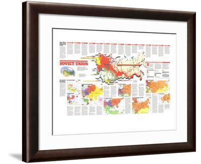 1990 Soviet Union Theme Map-National Geographic Maps-Framed Art Print