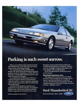 1990 Thunderbird Sweet Sorrow--Art Print