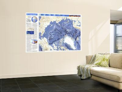 1990 World Ocean Floors, Arctic Ocean Map-National Geographic Maps-Wall Mural