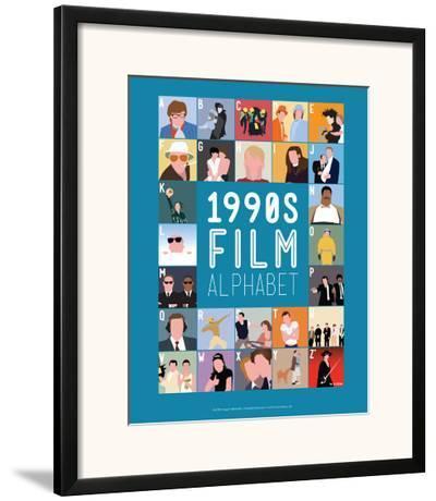 1990s Film Alphabet - A to Z-Stephen Wildish-Framed Giclee Print